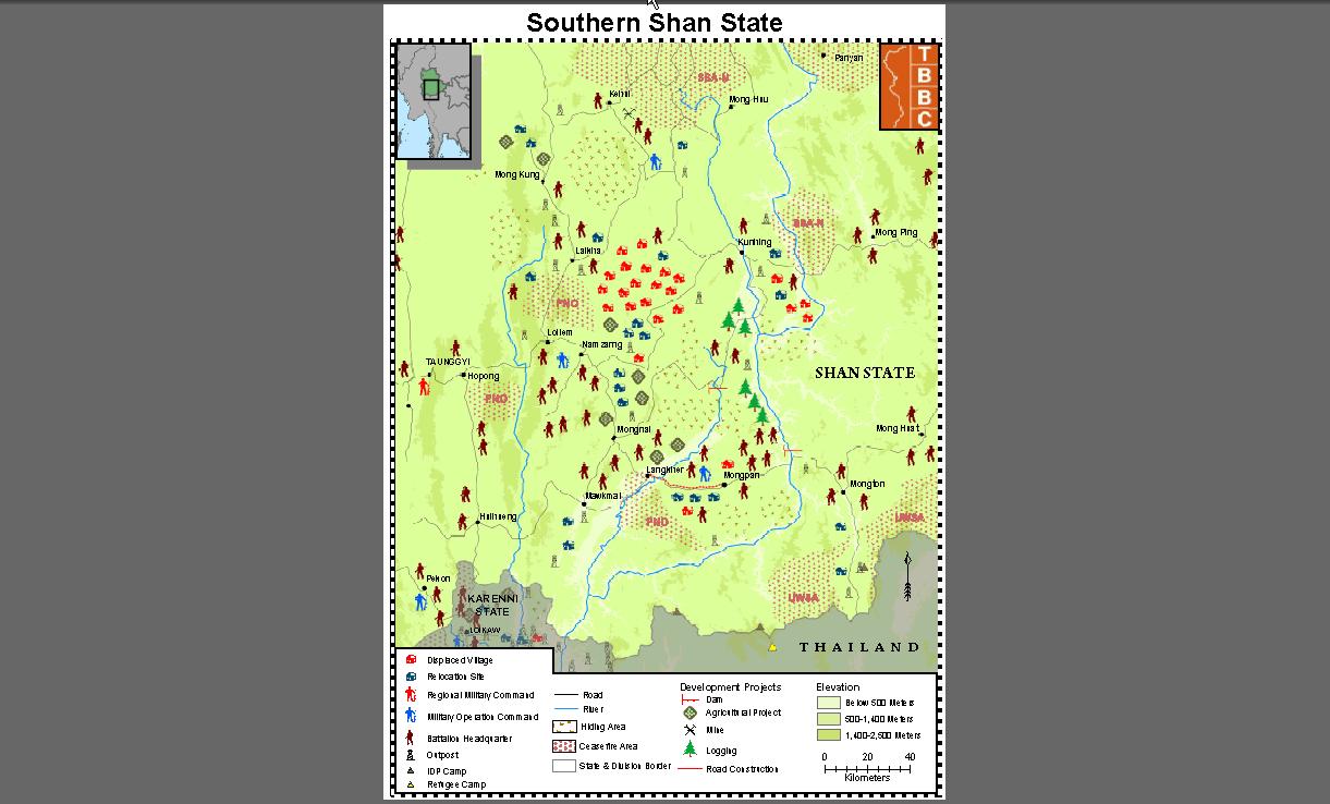 Militarisierung im südlichen Shan-Staat