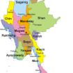 Karte von Burma